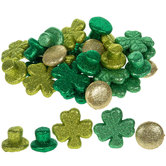 Glitter Top Hat, Coin, & Shamrock Filler