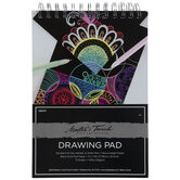 Black Master's Touch Drawing Paper Pad