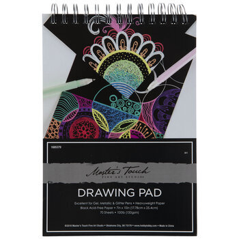 """Black Master's Touch Drawing Paper Pad - 7"""" x 10"""""""