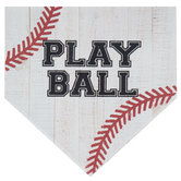 Play Ball Home Plate Wood Decor