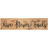 Love Never Fails Wood Magnet