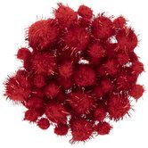 Red Tinsel Pom Poms