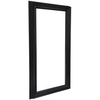 Matte Black Wood Open Frame