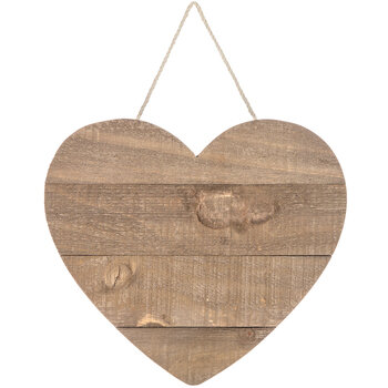 Dark Wood Heart Wall Decor