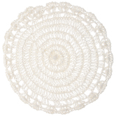 Ivory Round Crocheted Placemat