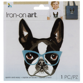 Dog With Glasses Iron-On Applique