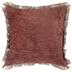 Burnt Orange Fringe Pillow Cover