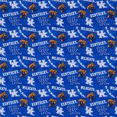 Kentucky Allover Collegiate Cotton Fabric