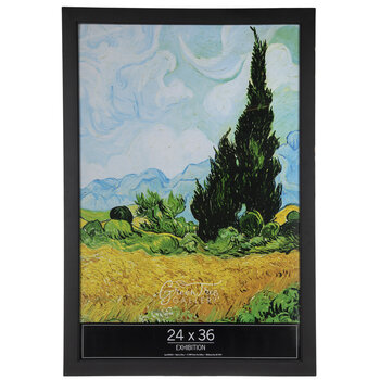 "Black Matte Smooth Wood Wall Frame - 24"" x 36"""