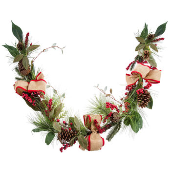 Pinecone, Berry & Bow Garland