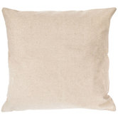 Natural Canvas Pillow Cover