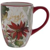 Jingle Poinsettia & Bells Mug