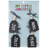 Mini Black Tag Ornaments