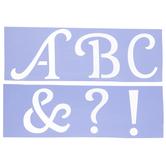 Avery Uppercase Alphabet Stencils