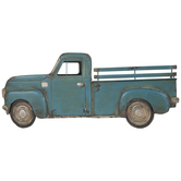 Rustic Blue Truck Metal Wall Decor