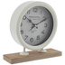 White Grand Hotel Metal Clock