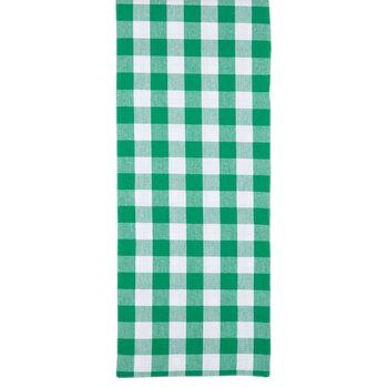Green Plaid Reversible Table Runner