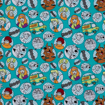 Scooby Doo & The Gang Cotton Calico Fabric