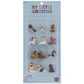 Mini Dogs In Santa Hats Ornaments