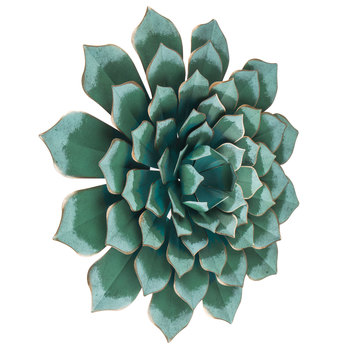 Blue Metal Flower Wall Decor