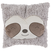 Happy Sloth Face Pillow