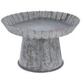 Galvanized Pedestal Metal Cake Stand