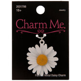 White Painted Daisy Charm