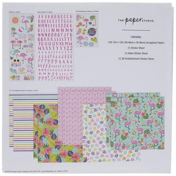 Flamingo Papercrafting Kit