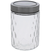 Hammered Glass Canister