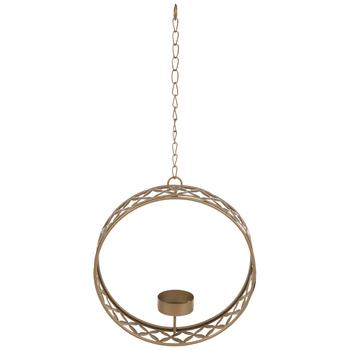 Gold Floral Hoop Wall Sconce