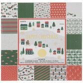 "Happy Christmas Foil Paper Pack - 6"" x 6"""