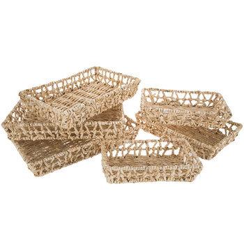 Natural Maize Shallow Basket Set