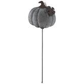 Galvanized Pumpkin Metal Pick