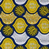 Blue & Yellow Ankara Fabric