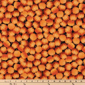 Orange Pumpkins Cotton Apparel Fabric