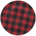 Red & Black Buffalo Check Plate