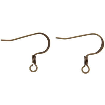 Flat Fish Hook Ear Wires - 18mm