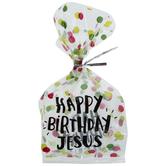 Happy Birthday Jesus Cello Treat Bags