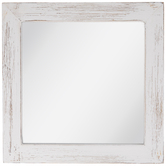 White Distressed Wood Wall Mirror