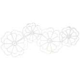 White Flowers Metal Wall Decor