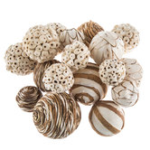 White & Natural Decorative Spheres