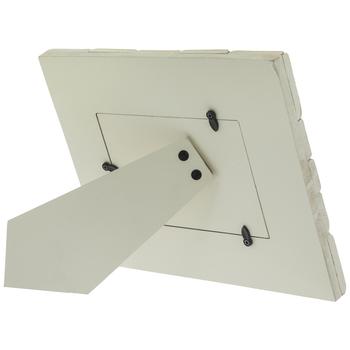 "Chevron Plank Wood Frame - 6"" x 4"""