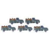 Turquoise Truck Rhinestone Stickers