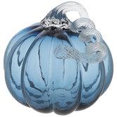 Blue Tinted Glass Pumpkin