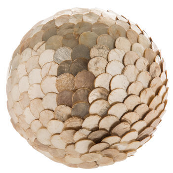 Capiz Shell Decorative Sphere