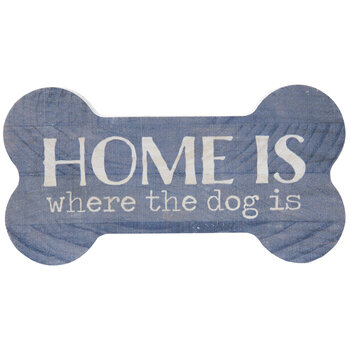 Home Is Where The Dog Is Wood Decor