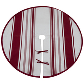 Red & White Striped Tree Skirt