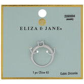 Cubic Zirconia Solitaire Ring - Size 6
