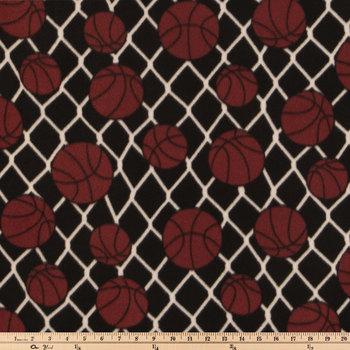 Basketball Fleece Fabric