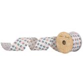 "Polka Dot Wired Edge Ribbon - 2 1/2"""